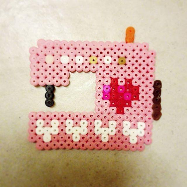Sewing machine hama beads by muntaipale