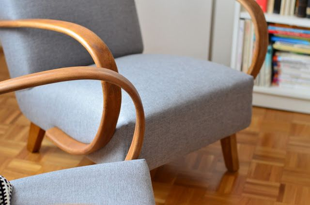 syroovka: ...Halabala Restored chair New upholstery