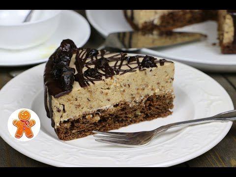 Низкокалорийный торт мусс с черносливом и грецкими орехами - YouTube