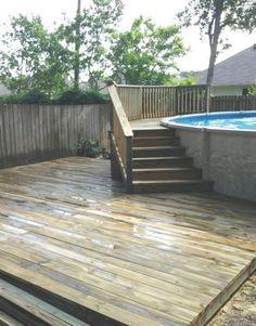 small deck for above ground pool - Recherche Google
