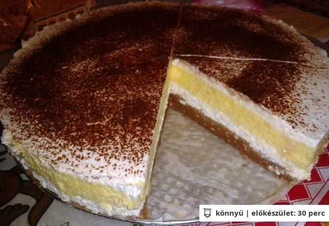 Vaníliás-túrós krémes sütés nélkül recept