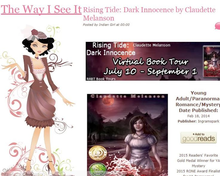 Stop by & enter to win the ***$25 Amazon Gift Card*** when you check out today's feature and excerpt from Rising Tide over at The Way I See It Book Blog http://anindiangirlrants.blogspot.ca/2017/08/rising-tide-dark-innocence-by-claudette.html?utm_content=buffer57d7f&utm_medium=social&utm_source=pinterest.com&utm_campaign=buffer