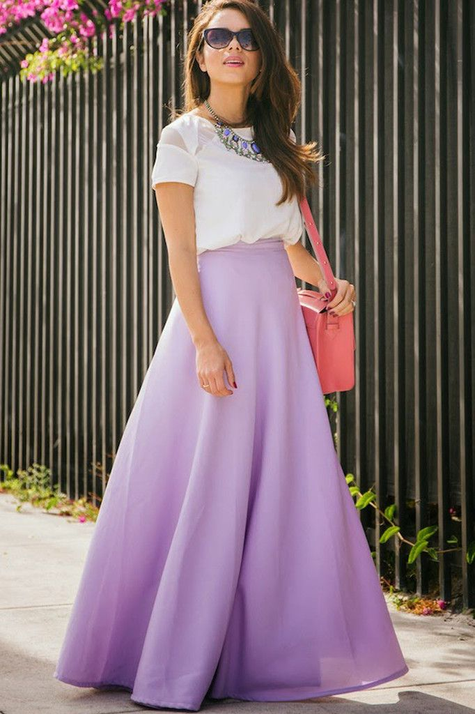 Lavender Dreams Maxi Wrap Skirt
