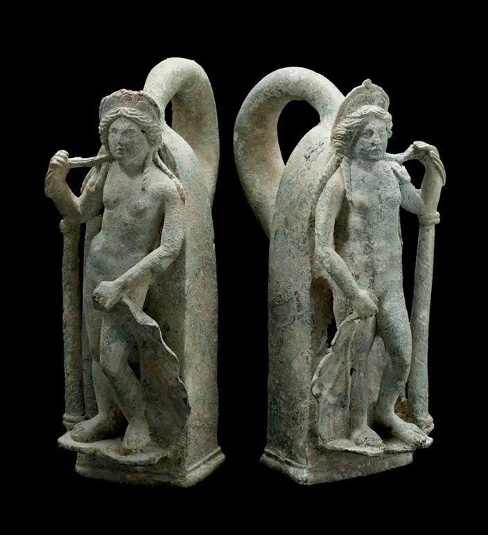 Pair of Roman Bronze Chariot Handles in the Form of Venus - DAC.022 Origin: Mediterranean Circa: 1 st Century AD to 3 rd Century AD