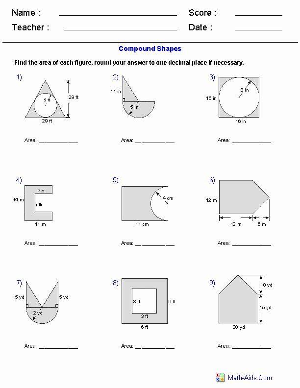 50 Area Of Regular Polygons Worksheet In 2020 Geometry Worksheets