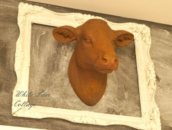Beautiful Cow Head Wall Decor Ornament - Wall Art Collections ...