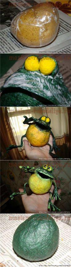 "МК папье-маше: Лягушонок ""Позитивчик"""