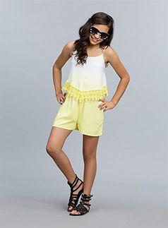Urban Angel Fashion Lewis Dip Dye Jumpsuit Sun Glow playsuit