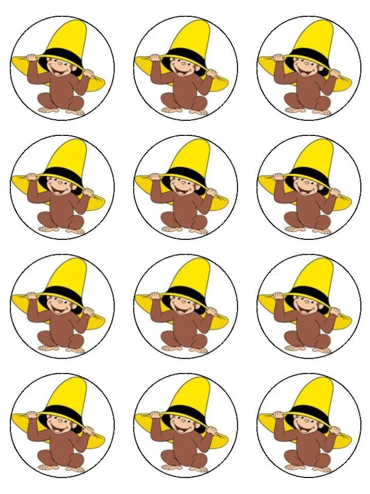 12 Curious George Edible Cupcake Images 2
