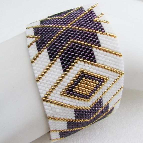 Elegant Enchantment Peyote Cuff  Bracelet (2439)