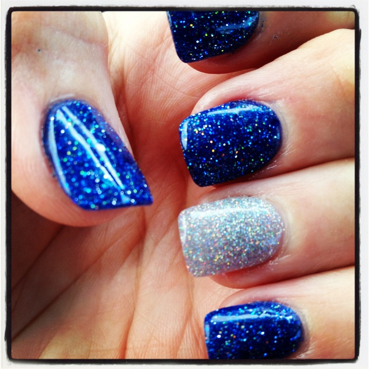 For Prom Blue Nail Ideas: 9 Best Images About Nails For Homecoming On Pinterest