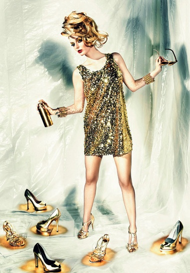 Lydia Hearst- gold. Genlux, July 2010