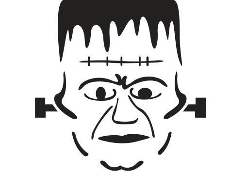 Frankenstein  pumpkin  stencil  .