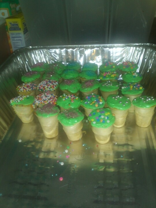 Mini cupcake coned