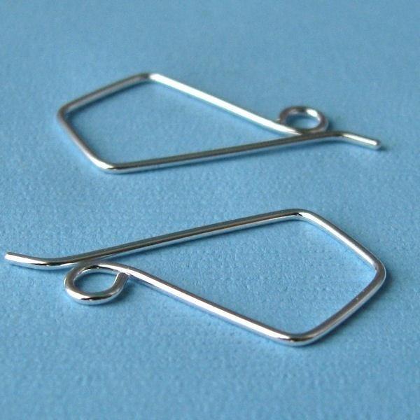 Kite II Earring Wires, Handmade Jewelry Findings, Original Design Signature Series by Rocki Adams