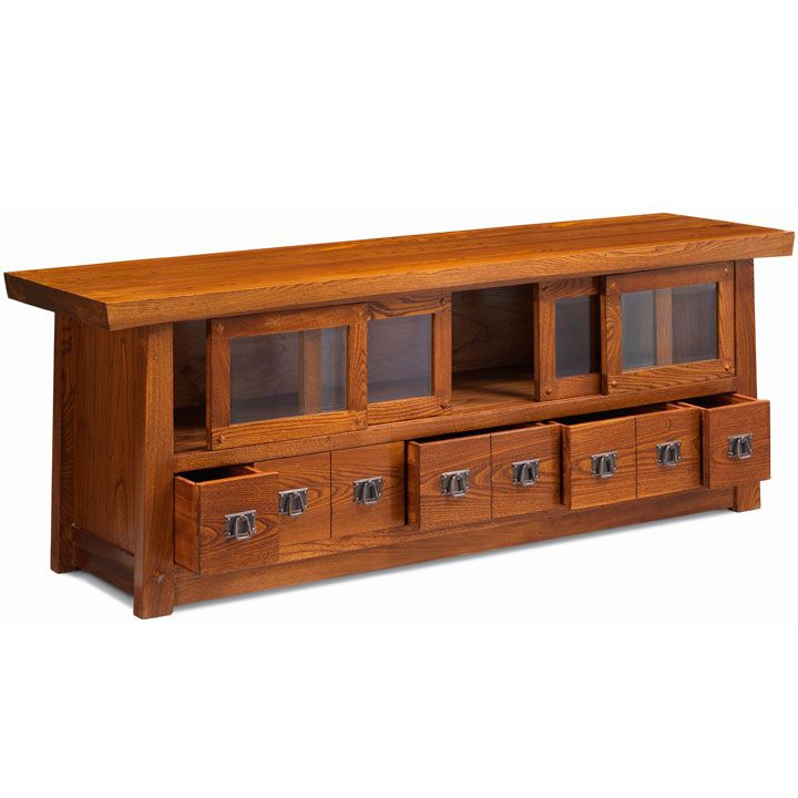 Asian style media console
