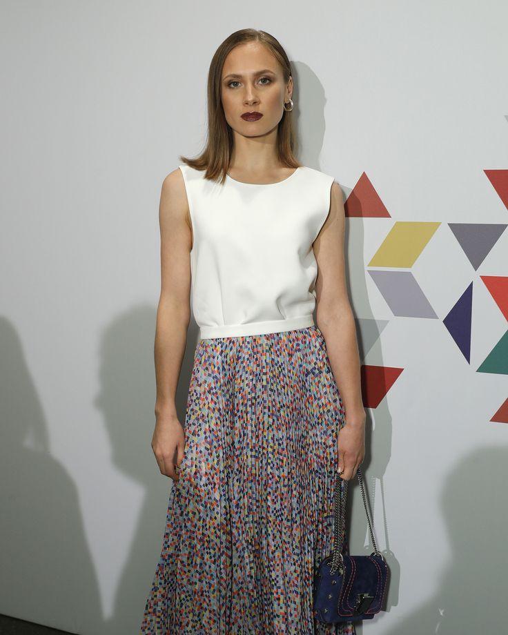 Alina Levshin wearing BOSS at the Eames Celebration