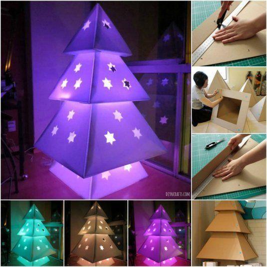 Brilliant Christmas Project: DIY Cardboard Christmas Tree:
