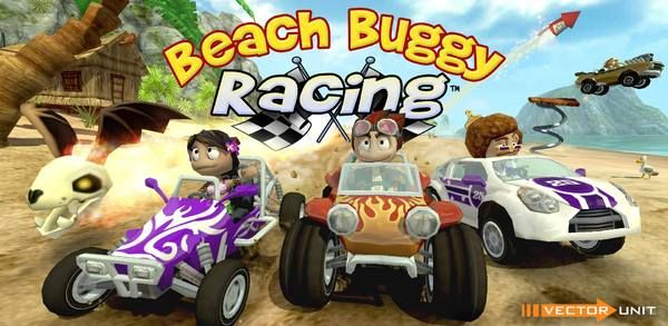 Beach Buggy Racing for Windows Phone is a fun racing game in the style of Mario Kart.