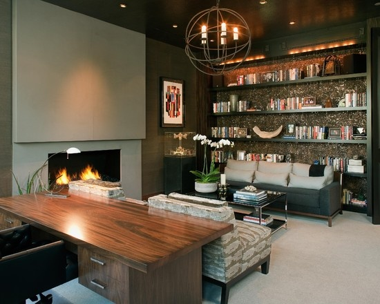den office design ideas. hollywood glamour meets modern home office san diego lori gentile interior design love the furniture layout custom shelving pillows on sofa den ideas
