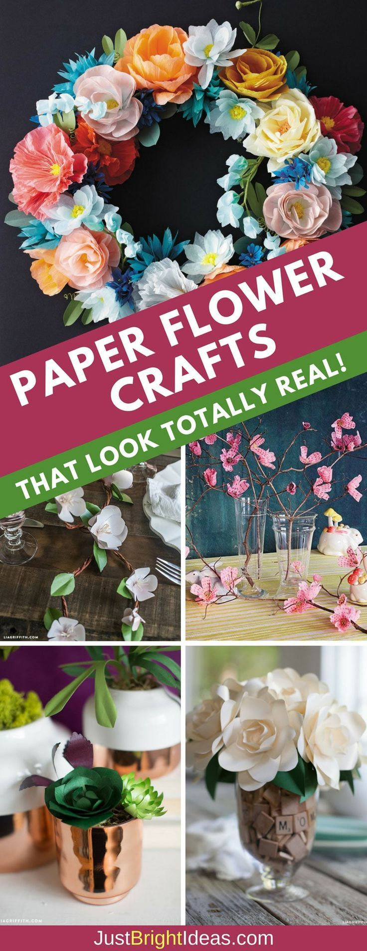 We've collected up 17 easy to follow tutorials for paper flower crafts which look so realistic they're as good as the real thing.