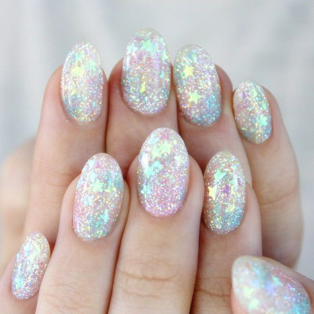 nailpopllc:✨Pastel Rainbow glitter inlay fer mahself!✨www.nailpopllc.com (at ✨shop link in bio✨)