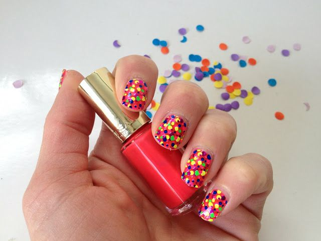 Sprinkles on a cupcake: Confetti nagels met L'Oréal Miss Pop