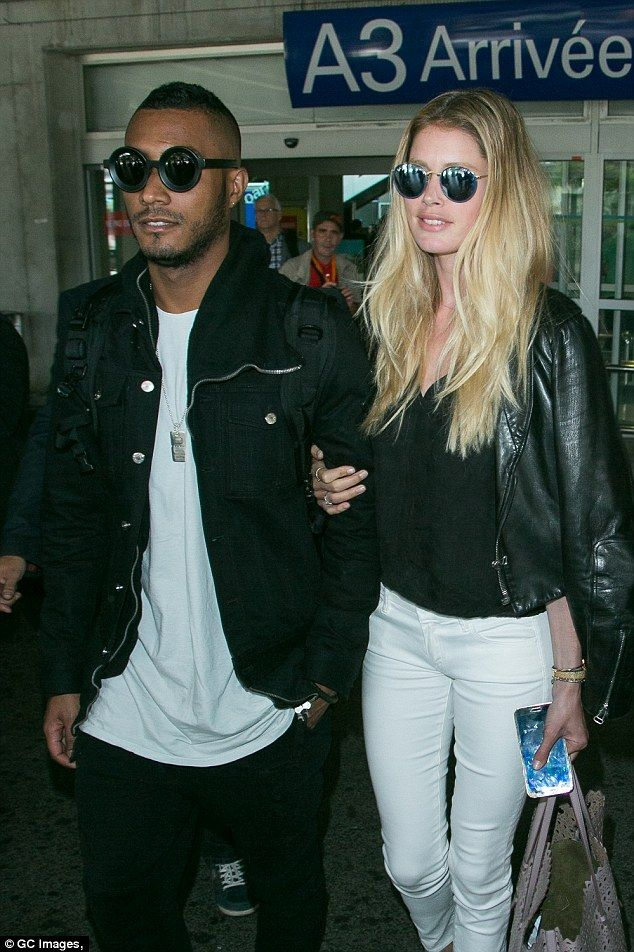Cute couple: Model Doutzen Kroes was joined by her husband Sunnery James...