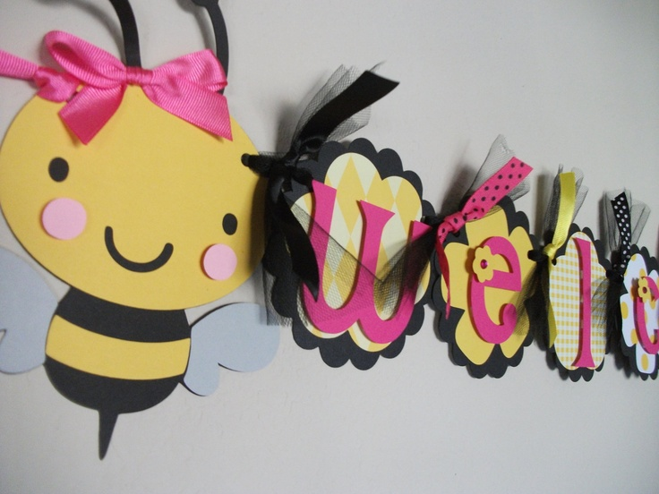 Bumble Bee Baby Shower Welcome BaBEE banner by sweetheartpartyshop,