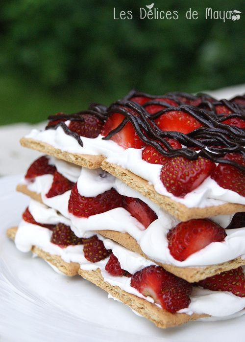 Les délices de Maya: Gâteau ICEBOX aux fraises