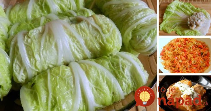 Plnená čínska kapusta s restovanou zeleninou