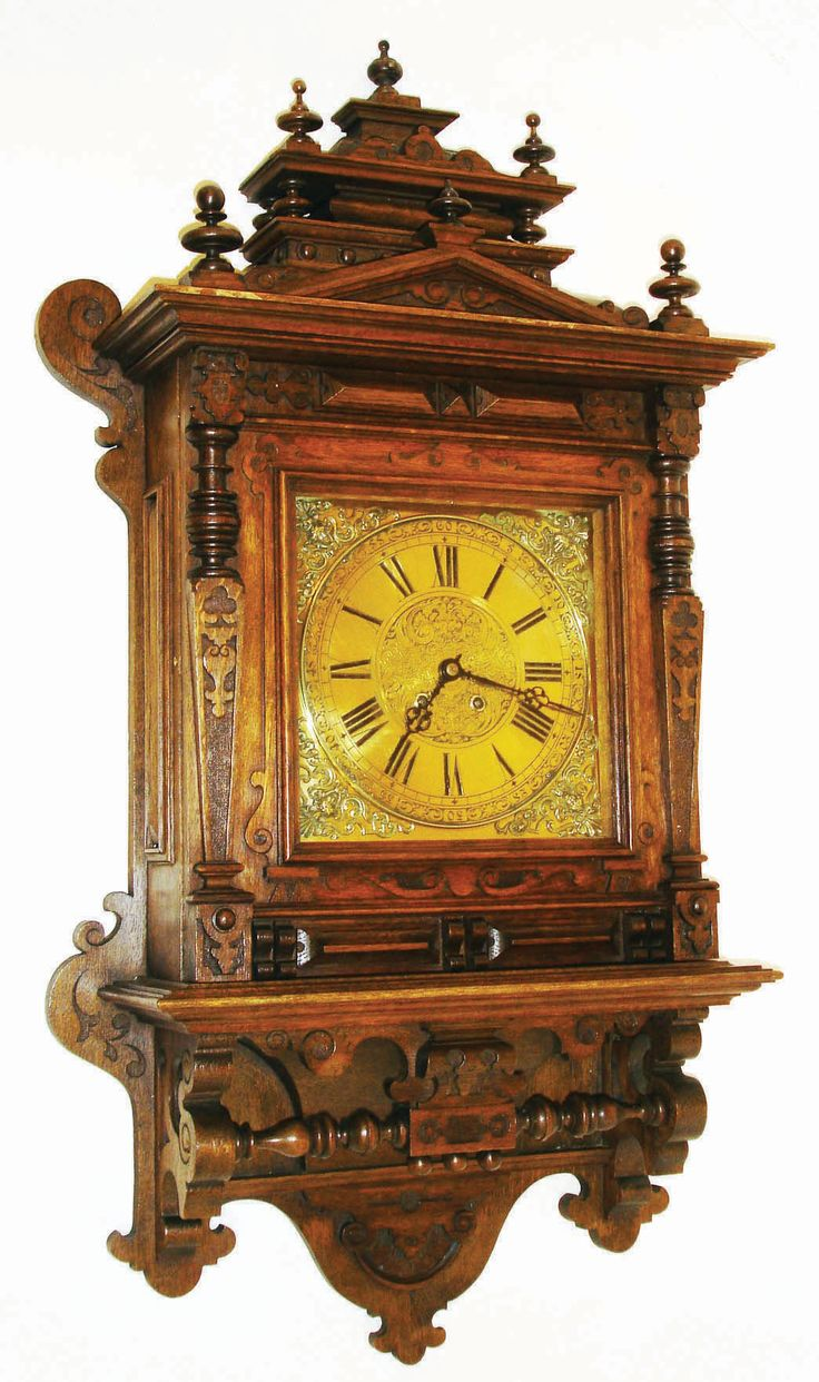 1516 best clocks images on pinterest antique clocks vintage clocks and mantel clocks - Wall mounted grandfather clock ...