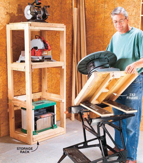 garage benchtop ideas - 25 Best Ideas about Power Tool Storage on Pinterest
