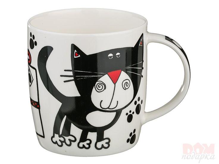 """Кружка """"Кошка"""",  Артикул:385-904 Материал:Фарфор Объем:400 мл. Производитель:Hangzhou Страна:Китай Цена:375 руб."""