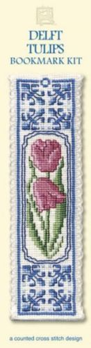 Delft Tulips Bookmark Cross Stitch Kit - Textile Heritage