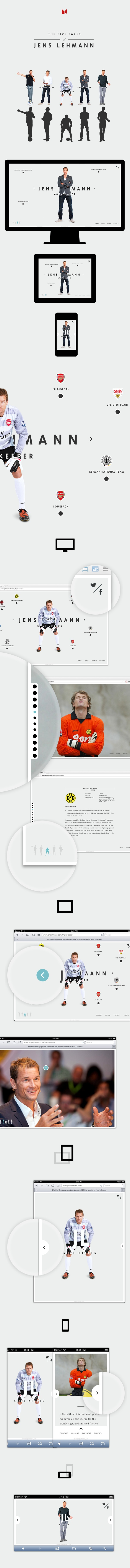 New Website for Jens Lehmann (former German National Goalkeeper) designed by MING Labs