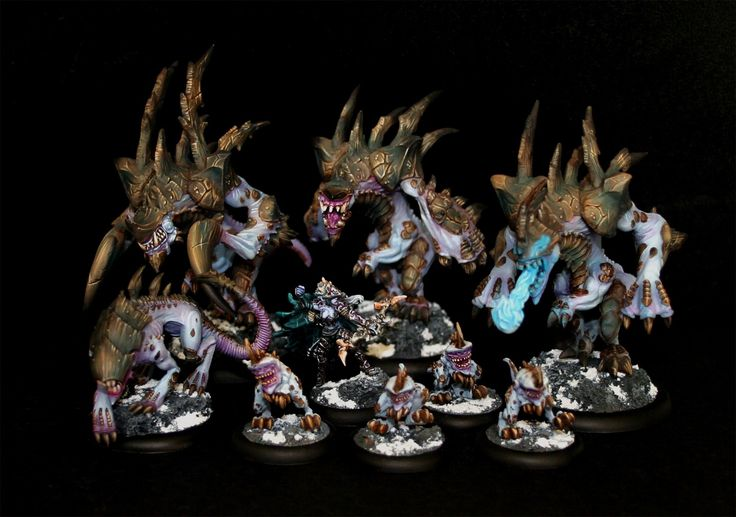 J's Legion of Everblight Warpack - Gorgeous studio scheme with deeper pinks!