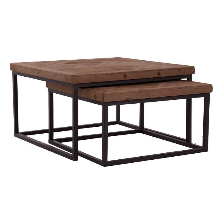 mesas de madera de abeto y hierro - Buscar con Google