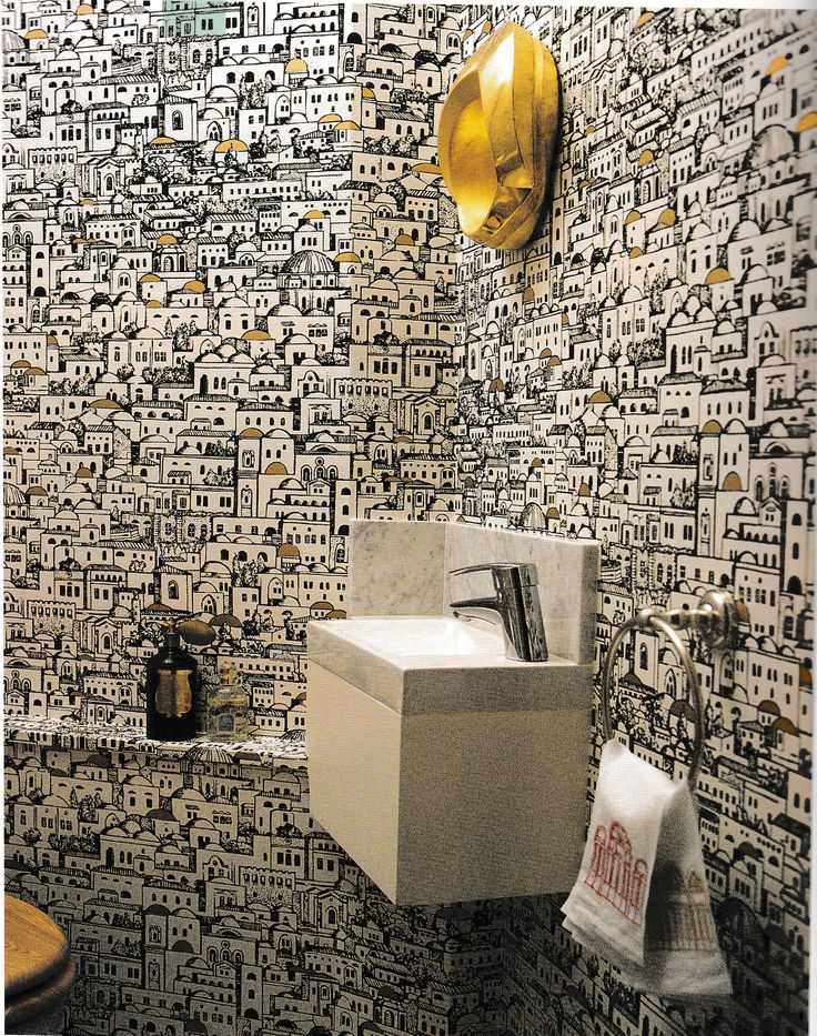 Fornasetti wallpaper, World of Interiors October 2014 photograph by Christopher Simon Sykes