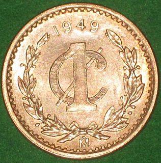 Monedas de México y el Mundo: México: Un Centavo de 1949 (Monograma)