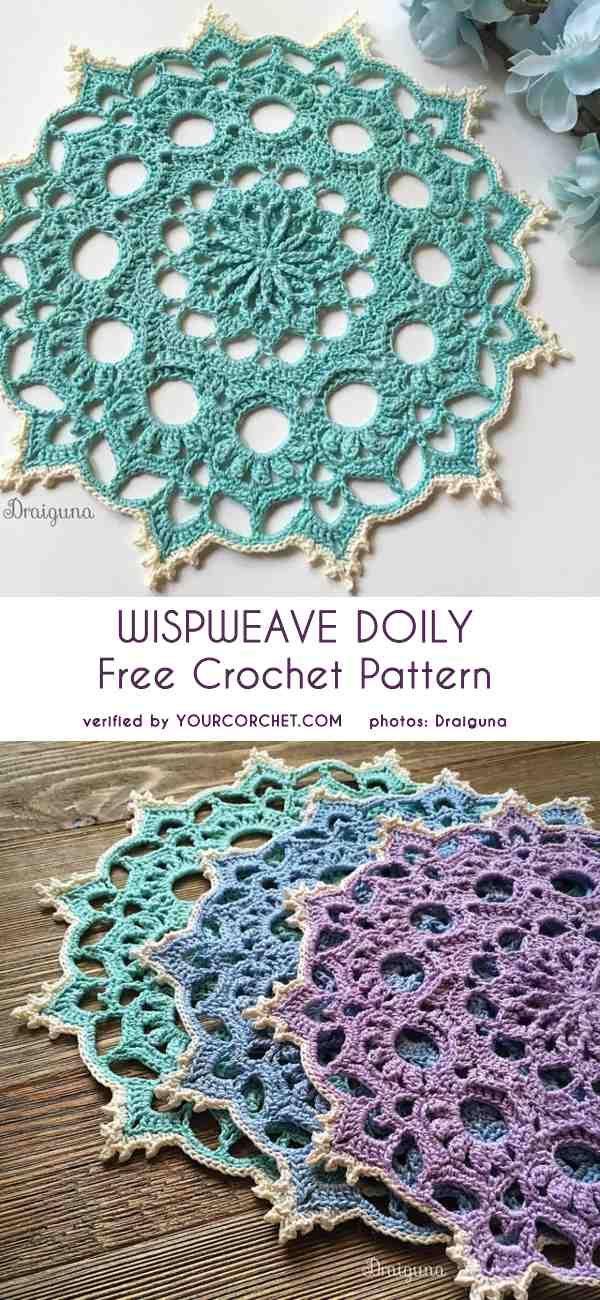 Wispweave Doily Free Crochet Pattern   Häkeln   Pinterest ...