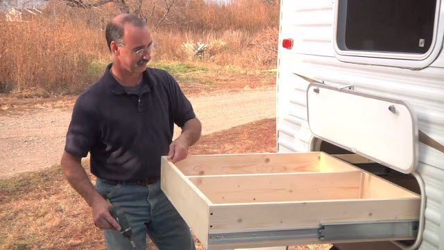 Build A Pull Out Storage Compartment For Your Rv Camping