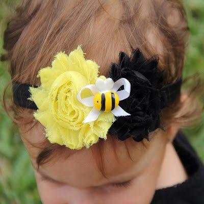 BUMBLEBEE Headband Bumblebee Birthday by HeadTuTuToeBowtique, $10.00