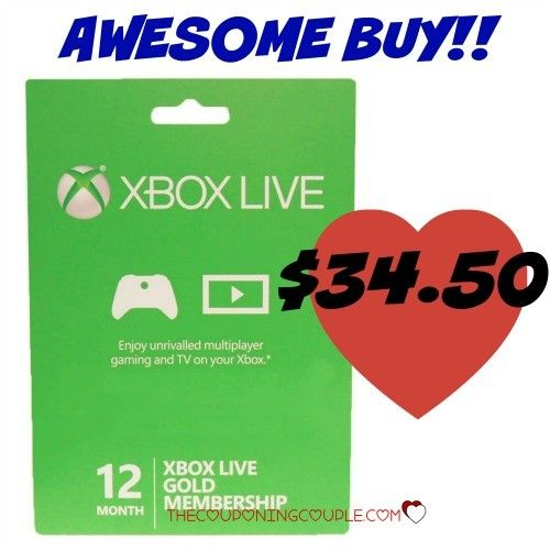Save $25 on an XBOX Live Gold 12 Month Membership! Only $34.50 shipped!! Cheapest price around for this must-have! Grab it now for holiday gifts!  Click the link below to get all of the details ► http://www.thecouponingcouple.com/12-month-xbox-live-gold-membership-only-35-99-shipped/  #Coupons #Couponing #CouponCommunity  Visit us at http://www.thecouponingcouple.com for more great posts!
