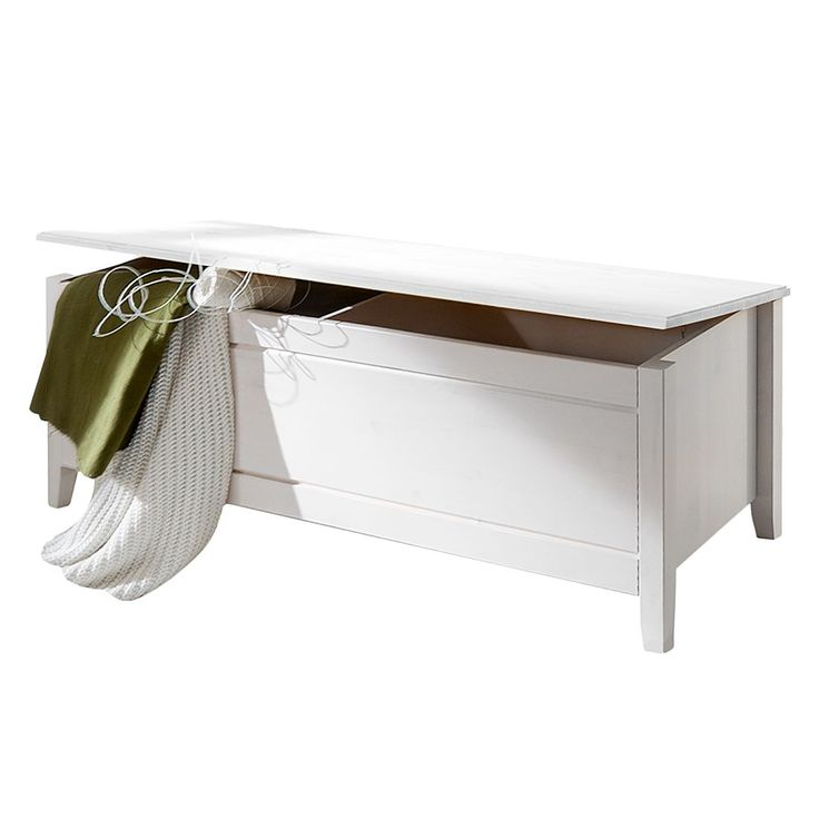 Wäschetruhe Cenan - Kiefer massiv - Weiß gebeizt & lackiert, Maison Belfort Jetzt bestellen unter: https://moebel.ladendirekt.de/dekoration/aufbewahrung/truhen/?uid=23506a46-1320-51ce-a1b0-809840583d7f&utm_source=pinterest&utm_medium=pin&utm_campaign=boards #möbel #truhen #maison #aufbewahrung #belfort #dekoration #schlafzimmer