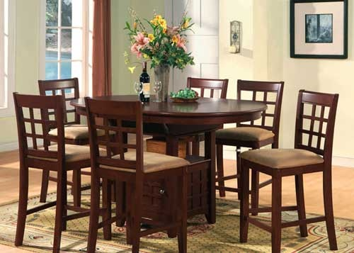 East West Furniture Elegant Pub Counter Height Dining Table