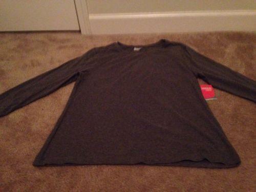 Danskin Now Women's Active Tee With Mesh Sz L 12-14 Gray Shirt Top Clothes #DanskinNow #Activetop