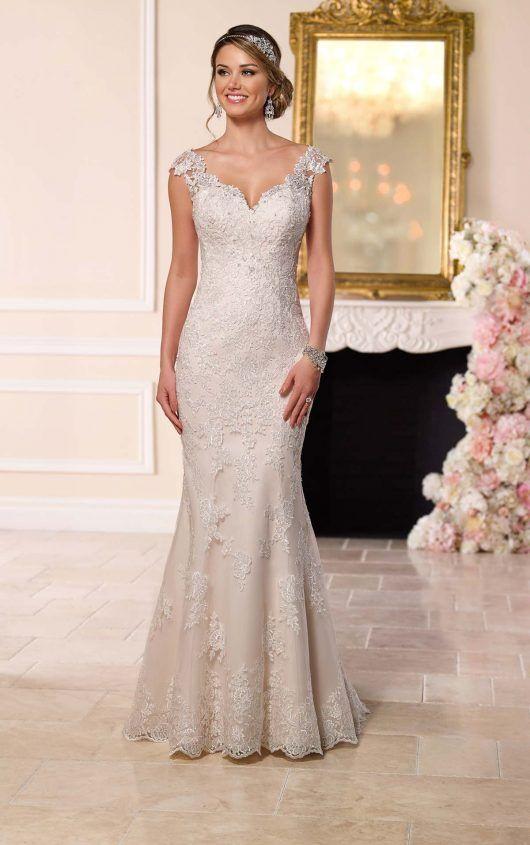 6249 Illusion Lace Voltar vestido de casamento por Stella Iorque