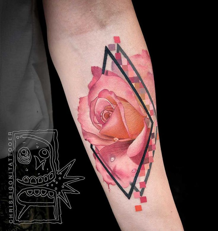 A selection of the tattoos of the Australian artistChris Rigoni, based in Perth, who uses a clever mix of techniques, but especially black ink and vibrantco