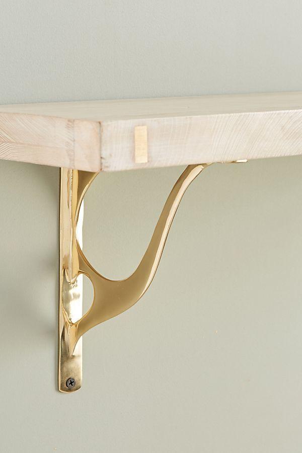 Michele Varian Bracket In 2019   Interior Design   Antique Hardware, Brass  Shelf Brackets, Shelf Brackets